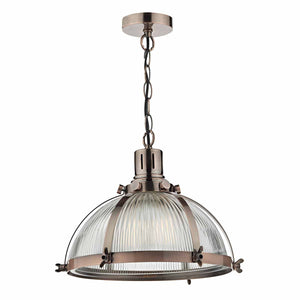 Debut 1 Light Pendant Brushed Antique Copper