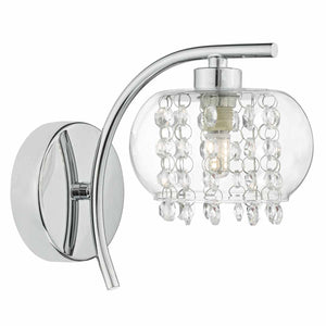 Elma Wall Light Polished Chrome & Glass