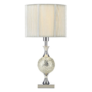 Elsa Table Lamp Silver Mosaic complete with Silver String Shade
