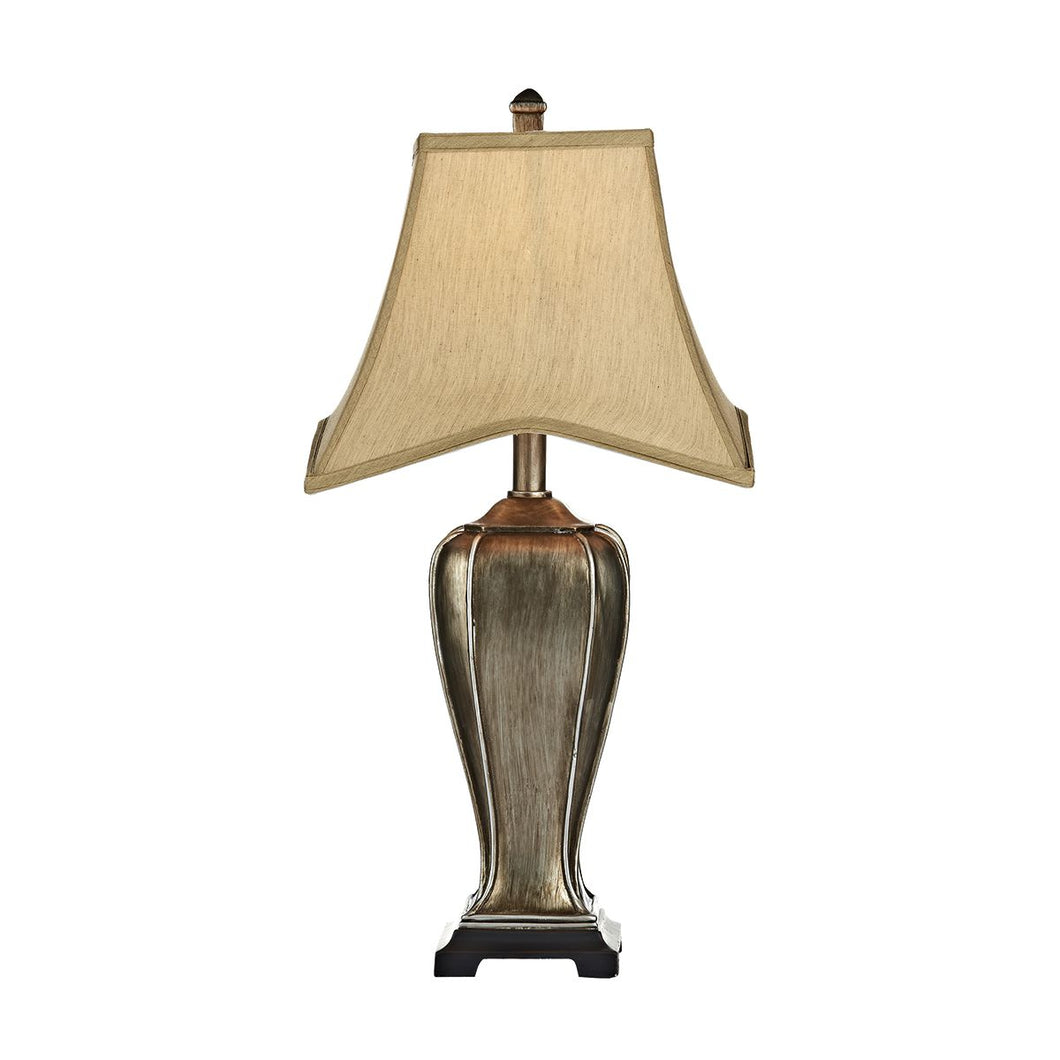 Emlyn Table Lamp Silver/Gold complete with Shade