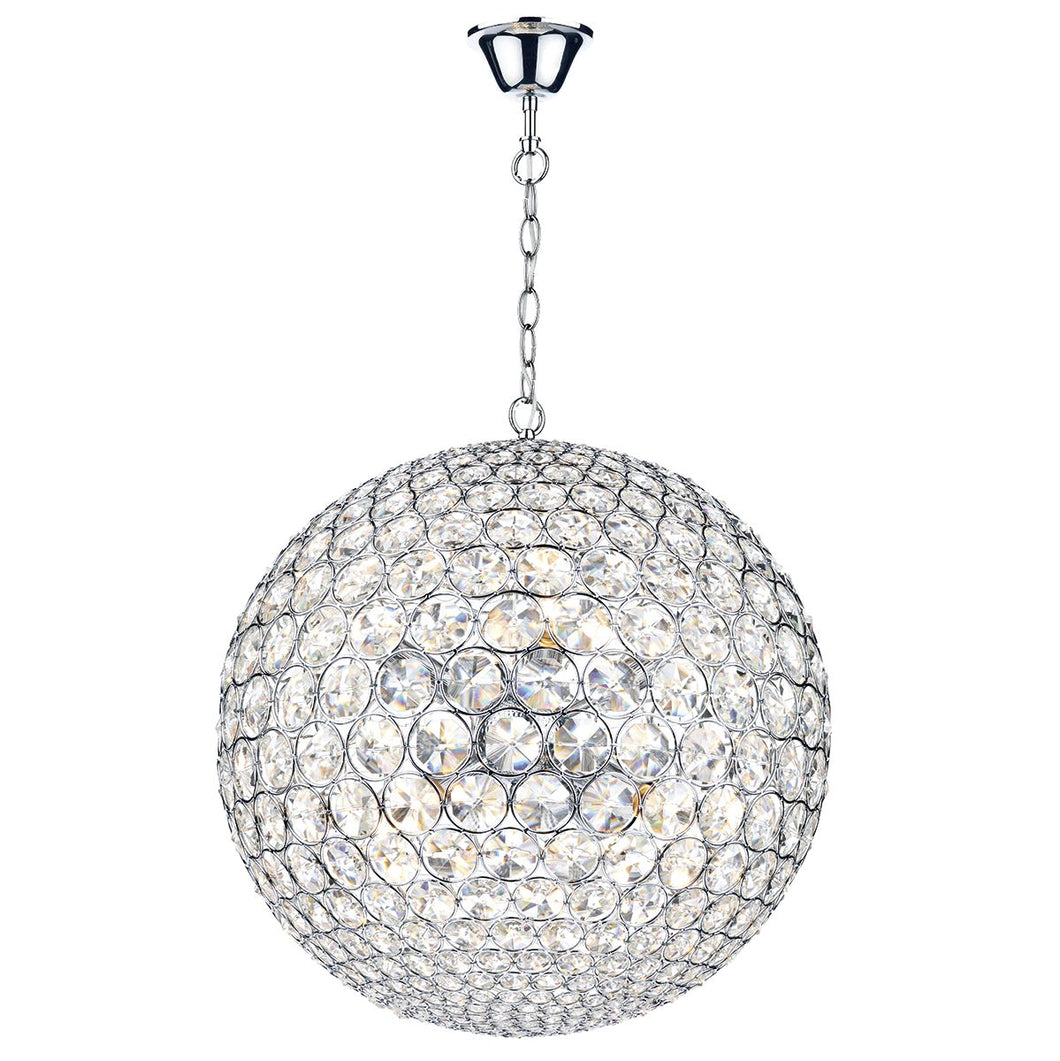 Fiesta 8 Light 50CM Pendant Polished Chrome