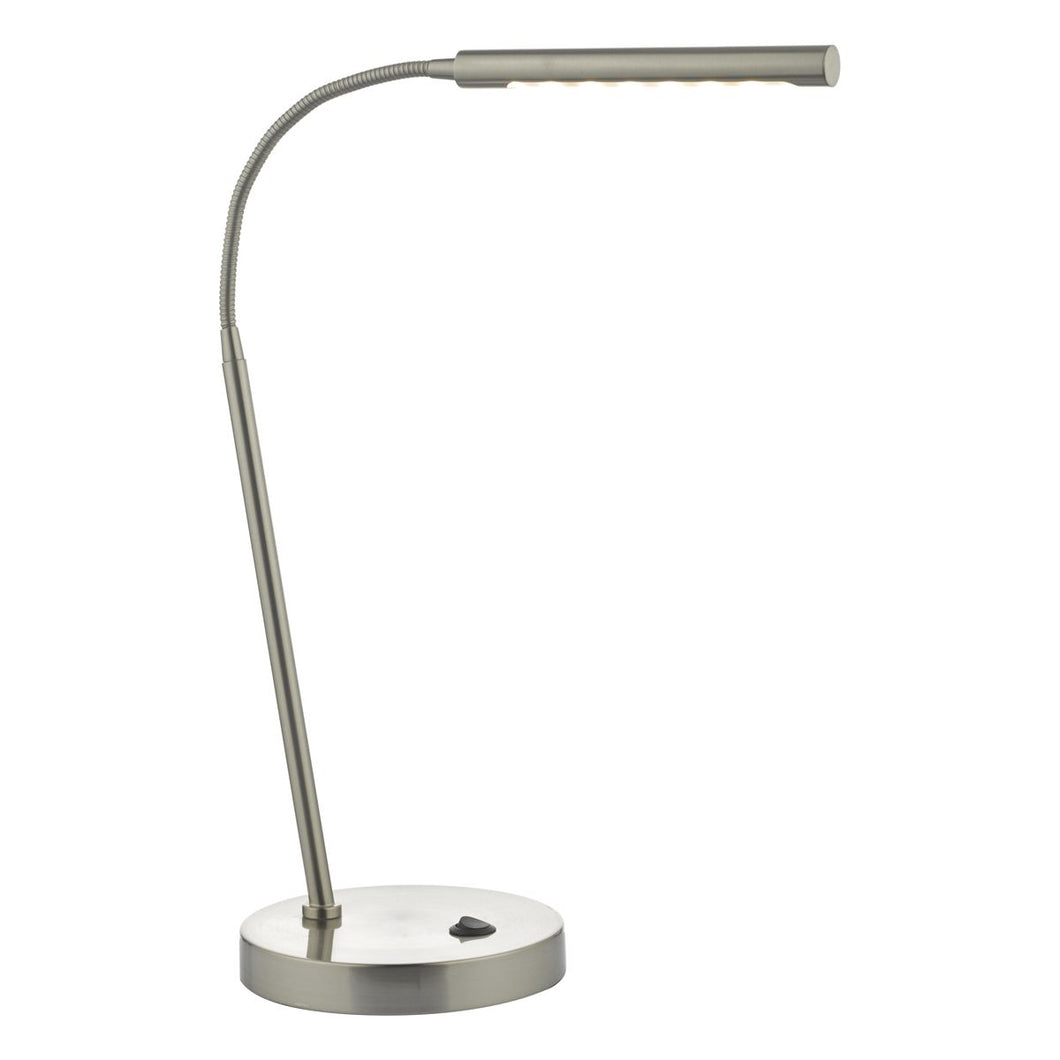 Gettis Task Lamp Satin Chrome LED
