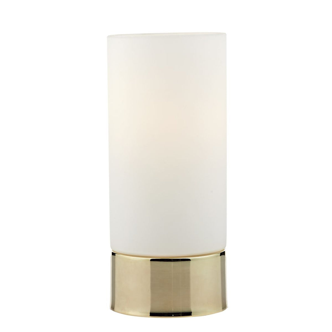 Jot Touch Table Lamp Gold complete with Glass Shade