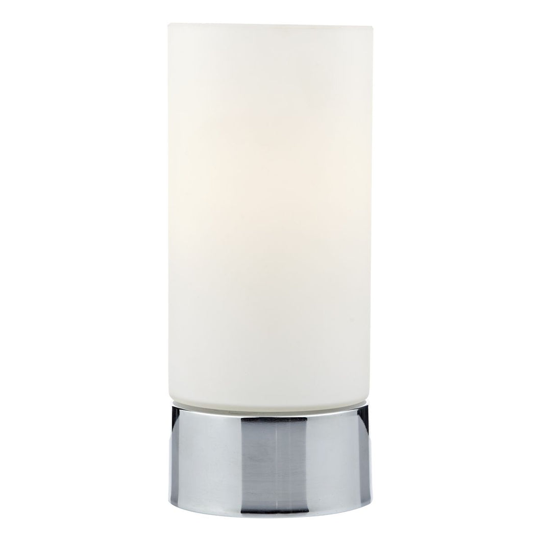 Jot Touch Table Lamp Polished Chrome complete with Glass Shade