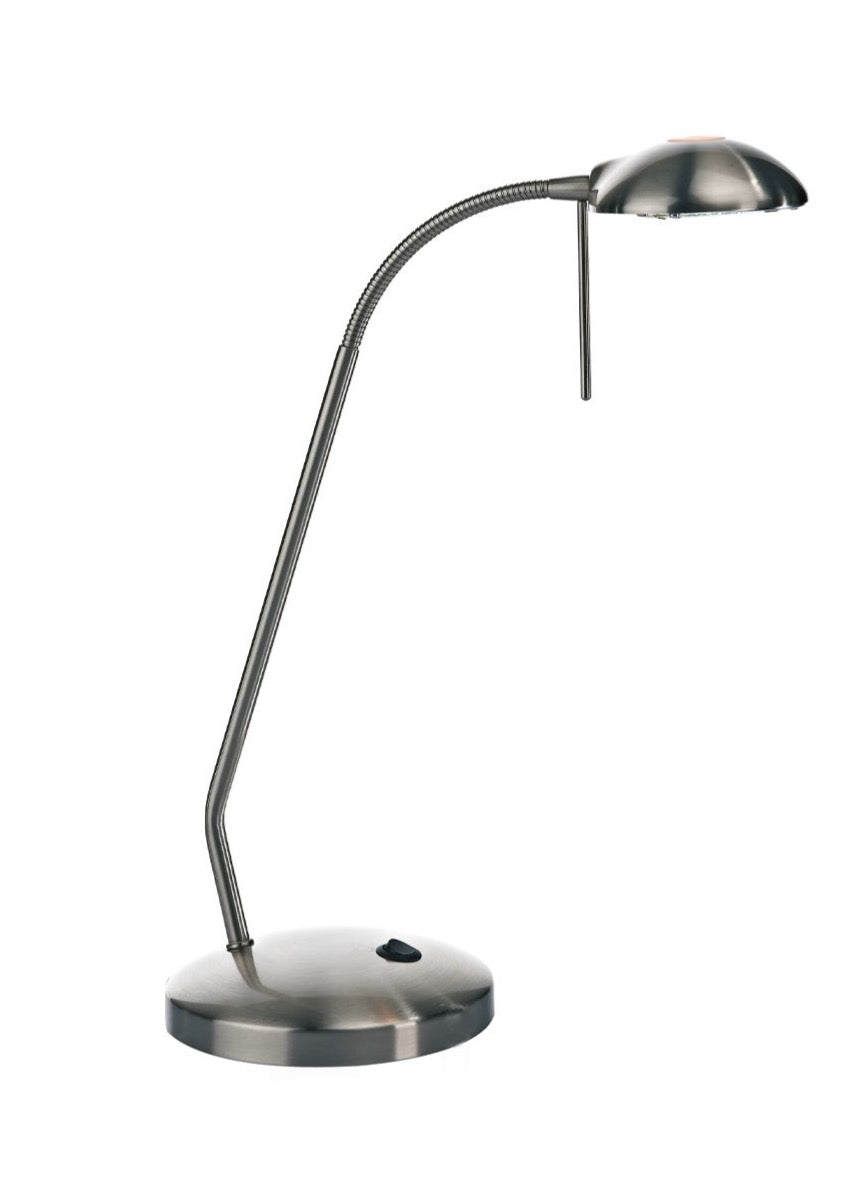 Journal Table Lamp Satin Chrome