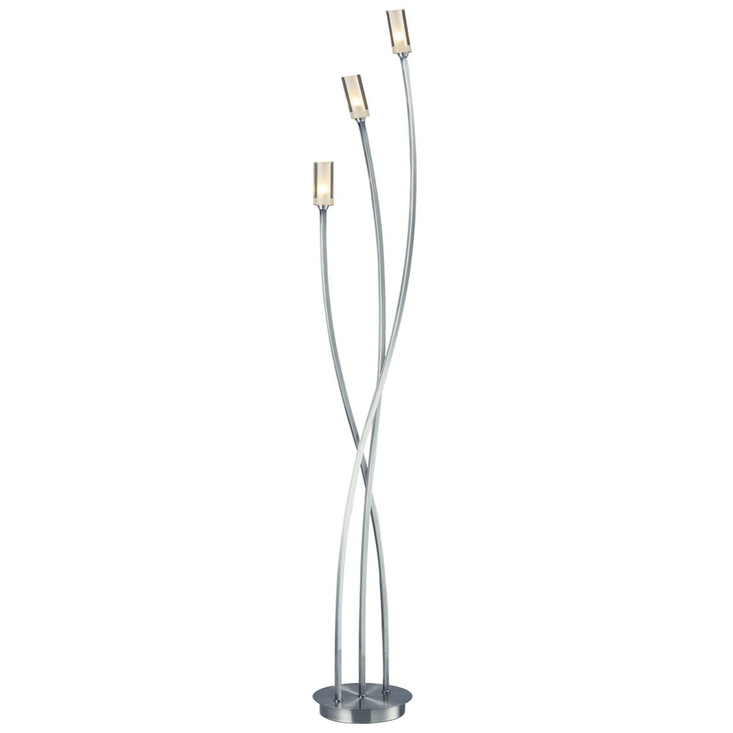 Morgan 3 Light Floor Lamp Satin Chrome