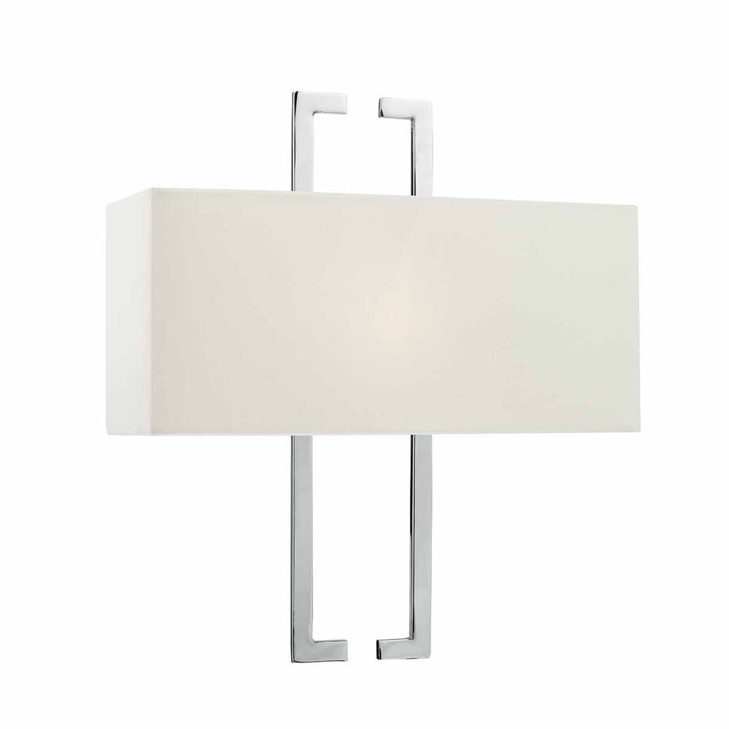 Nile Wall Light Polished Chrome c/w Ivory Shade