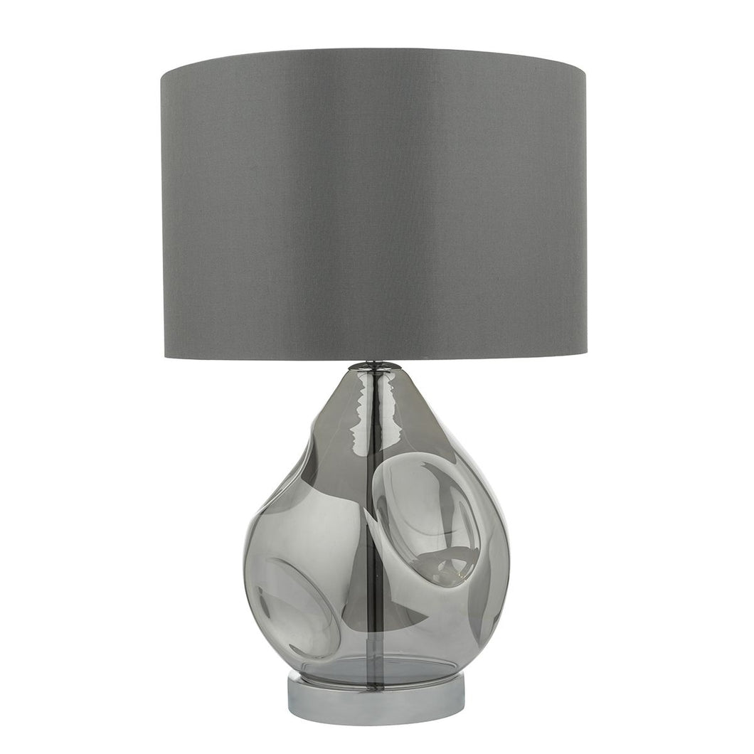 Quinn Table Lamp Smoked complete with Shade