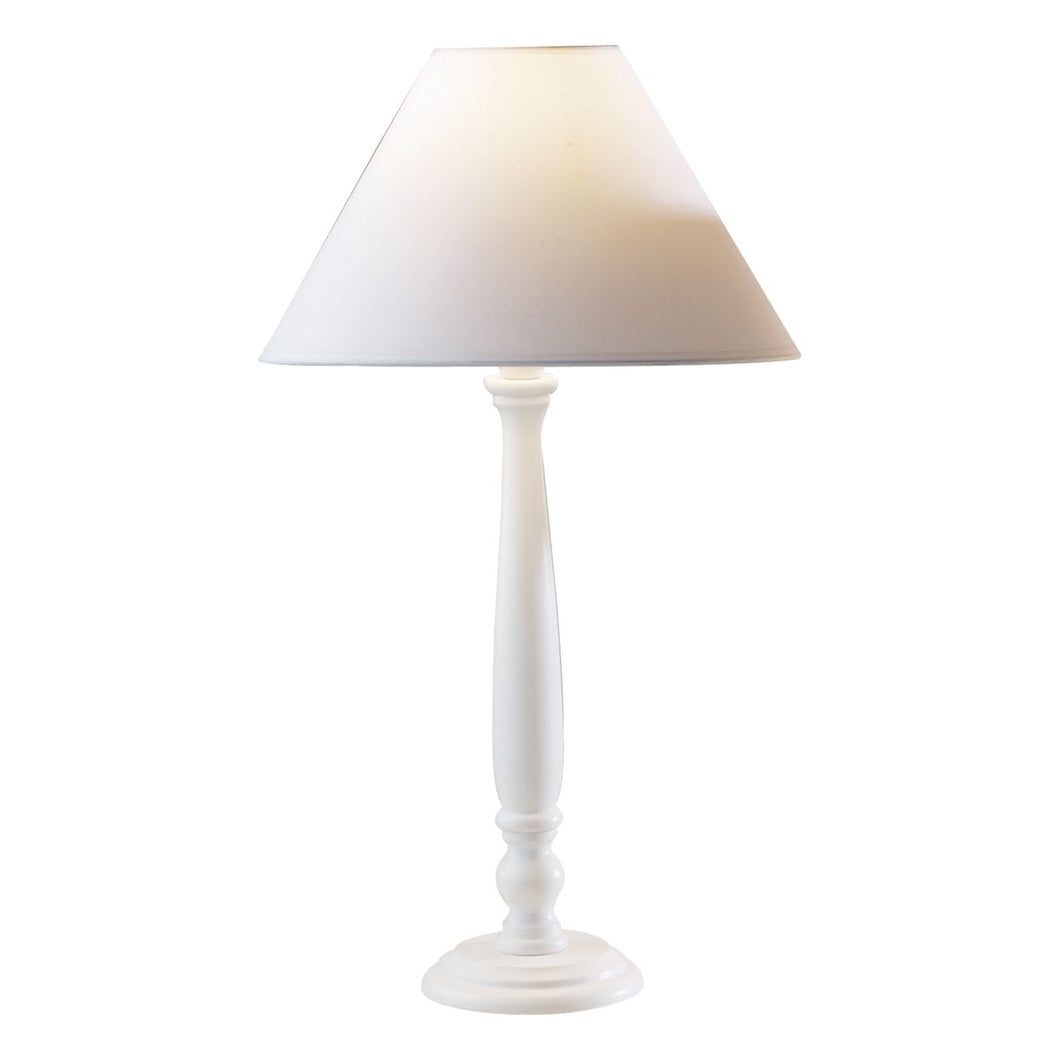 Regal Table Lamp 15 inch White complete with 12 inch COO1202 Shade