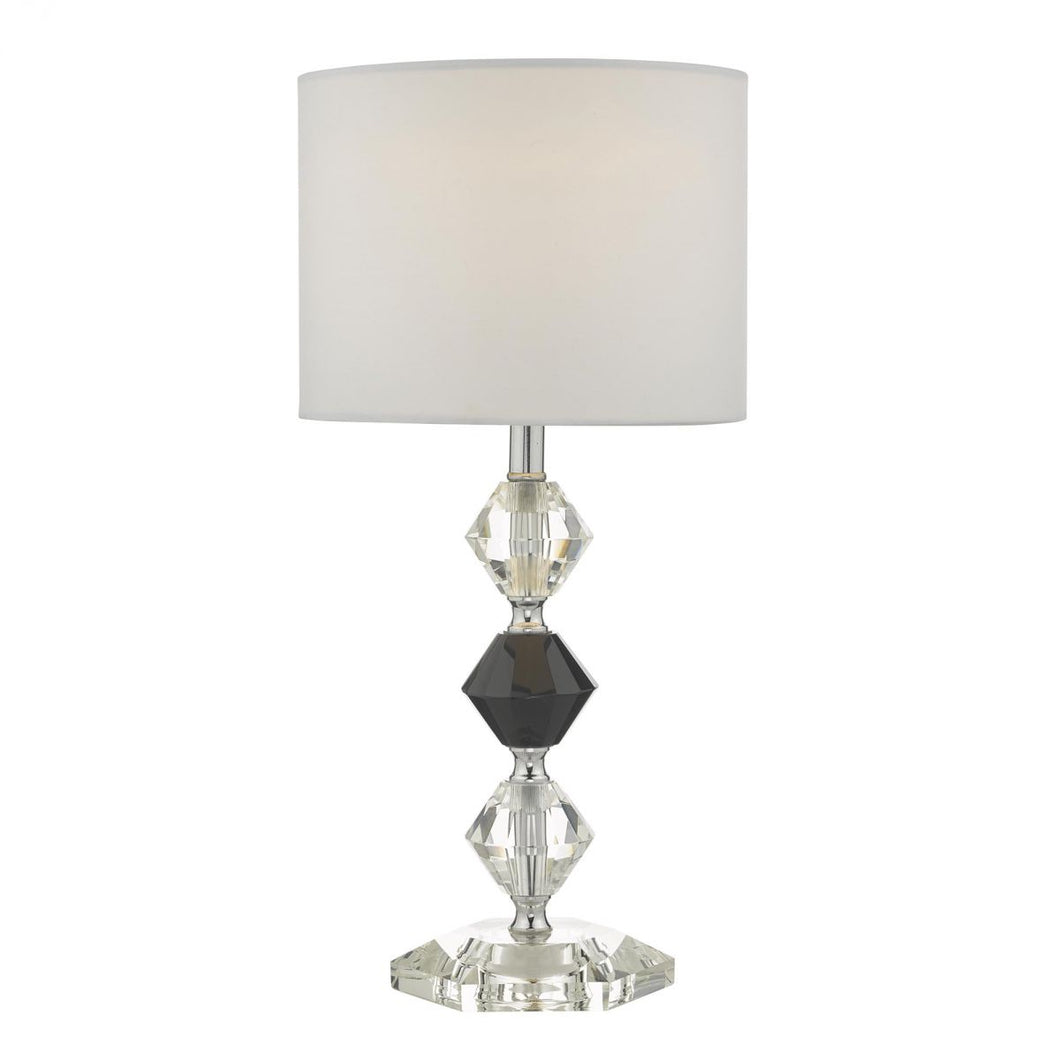 Rina Table Lamp Crystal & Polished Chrome With Shade