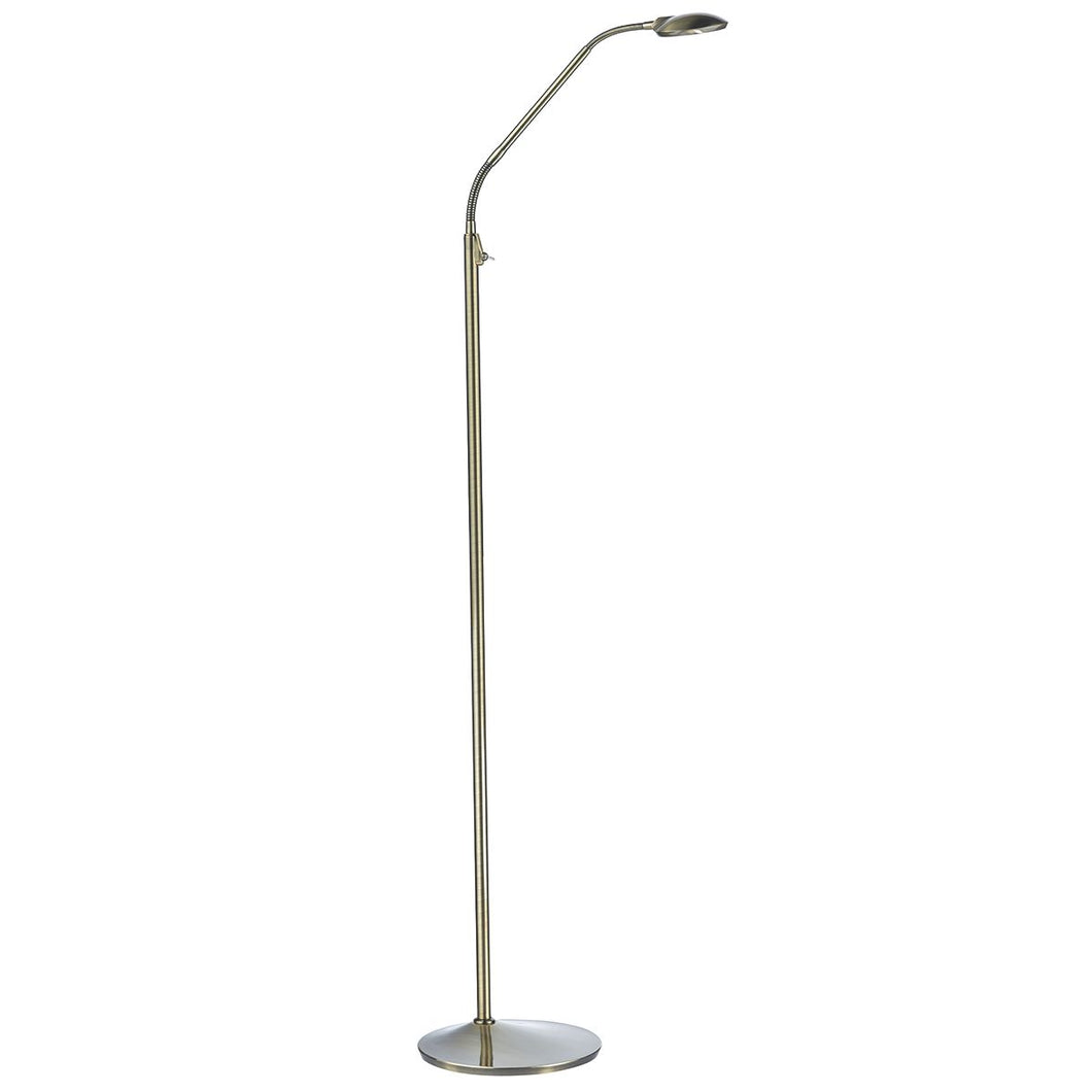Wellington Floor Lamp Antique Brass LED