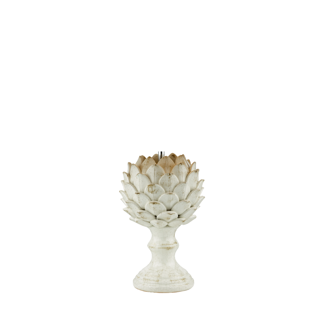 Orris Table Lamp Base Antique Cream