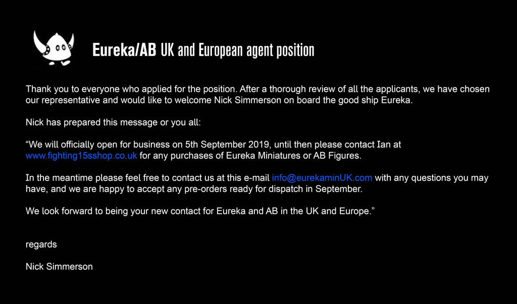 New UK & European Agent!