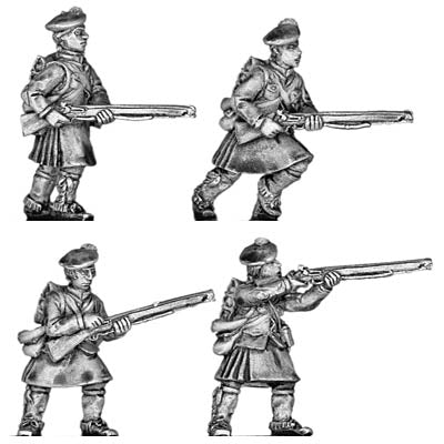 Highlander infantry in North American uniform (28mm)