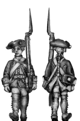 1756-63 Saxon Musketeer, march-attack (28mm)