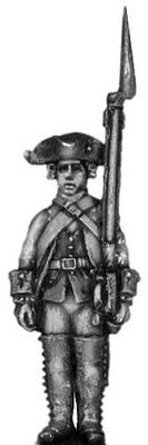 1756-63 Saxon Musketeer, at attention (28mm)