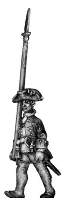 1756-63 Saxon Musketeer officer, marching with spontoon (28mm)