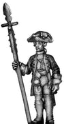 1756-63 Saxon Musketeer officer, at attention with spontoon (28mm)