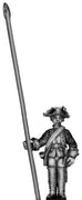 1756-63 Saxon Musketeer standard bearer, at attention (28mm)