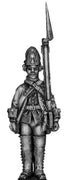 1756-63 Saxon Fusilier, at attention (28mm)