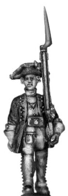 1756-63 Saxon Fusilier officer, marching with musket (28mm)
