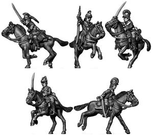 Ragged Continental Dragoon charging (28mm)