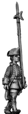 Dutch NCO, march-attack, coat with cuffs and lapels (28mm)