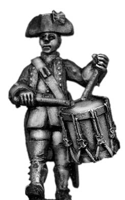Dutch Drummer, march-attack, coat with cuffs and lapels (28mm)