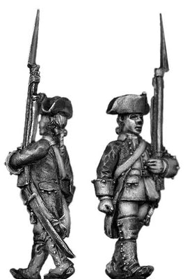 Dutch Musketeer, march-attack, coat with cuffs only (28mm)