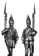 Dutch Grenadier, march-attack, coat with cuffs and lapels (28mm)