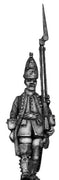 Dutch Grenadier Officer, march-attack, coat with cuffs and lapel (28mm)