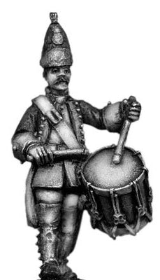 Dutch Grenadier Drummer, marching, coat with cuffs and lapels (28mm)