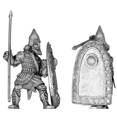 Assyrian heavy infantry, with spear and shield (28mm)
