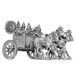 Assyrian four horse chariot and crew (28mm)