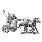 Assyrian early two horse chariot and crew (28mm)