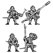 Gnomish gun team - assistants for 100AVB01 (28mm)
