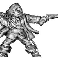 Royalist officer (human), firing pistols (28mm)