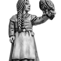 NEW - Young witch with owl (28mm)