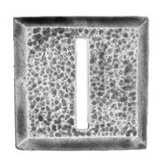 25mm square, horizontal slot, textured (28mm)