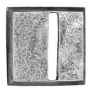 20mm square, horizontal slot, textured (28mm)