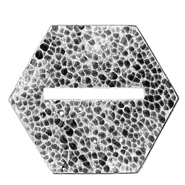 24mm (across flat) hexagon, slot - across point, textured (28mm)