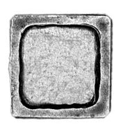 15mm square, recessed centre (28mm)