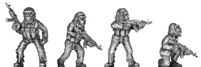 Boiler Suited Ape, with AK 47 (28mm)