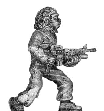 Boiler Suited Ape, with M-16 (28mm)