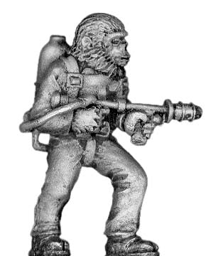 Boiler Suited Ape, with flame thrower (28mm)