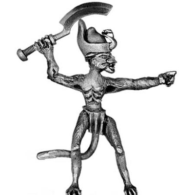 Bastet cat woman warrior officer (28mm)