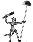 Bastet cat woman warrior standard bearer (28mm)