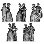 Victorian dancing couple (28mm)