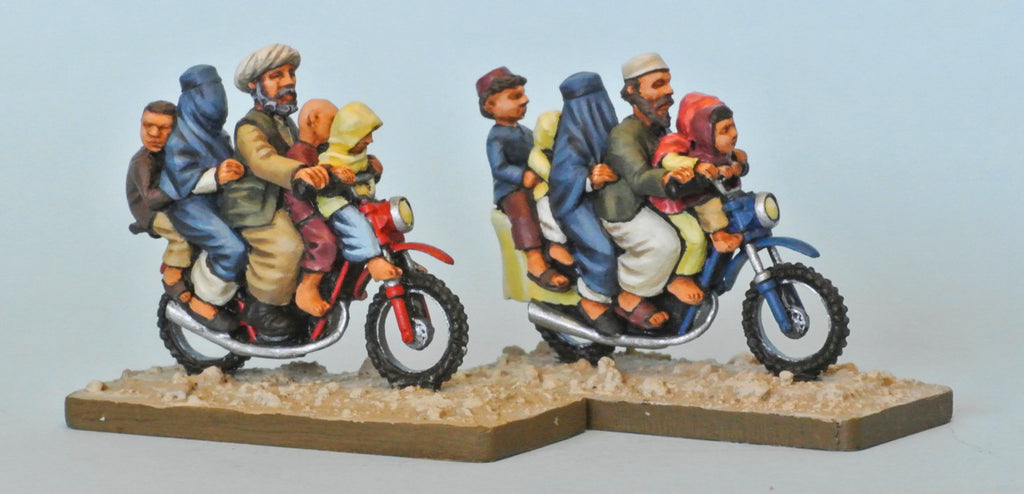 Afghan family on motorbike (28mm)