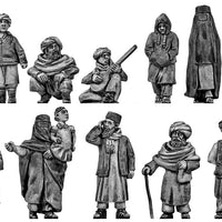 Afghan civilians rural dress (28mm)